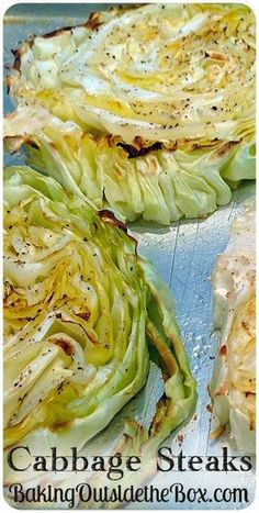 #BakingOutsidetheBox | Cabbage Steaks are great on the Grill or baked and work as a side dish or entree and so easy.