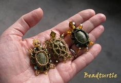 Beaded rockTurtles...