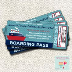 Embark in the Service of God Ticket New by PerfectHostess on Etsy