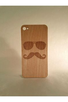 The Fartsy Mustache Wood iPhone 4/4S Skin