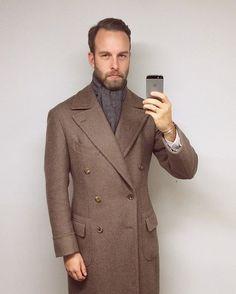 """andreasweinas - """" 16.12.14 - Polo Coatin, Polo Coat - @bntailor, Cashmere scarf - @bergandberg, #menswear #style #inspiration #polocoat #wiwt #ootd #mensstyle #bntailor #bergandberg """""""