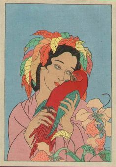 Paul Jacoulet - Woodblock Print - Chagrin d'Amour