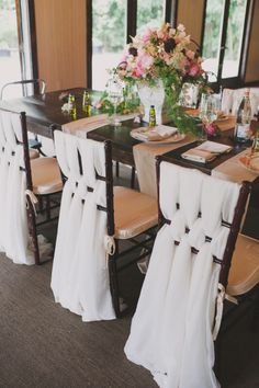Love this idea for chairs rather than the silly bow