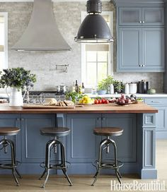 or maybe if kitchen cabinets were blue rather than grey