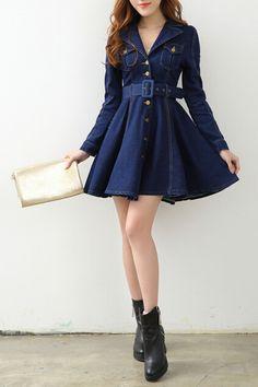 Hannou Edna Dress in Blue