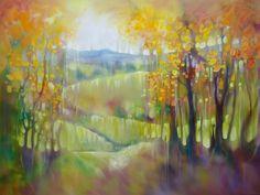 Nature Paintings, Landscape Paintings, Landscapes, Oil Paintings, Oil On Canvas, Canvas Art, Original Art, Original Paintings, Autumn Trees