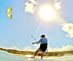A kite surfer doing his thing at Kite Beach in Jupiter, FL