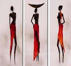 Gallery For > African Woman Painting Abstract