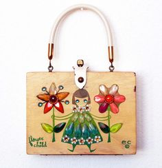 Enid Collins of Texas Flower Child Box Bag by niwotARTgallery, $129.00