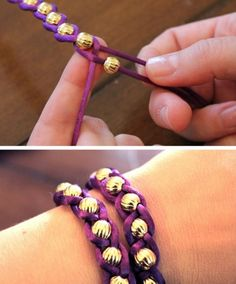 Really cool and easy to make bracelets!