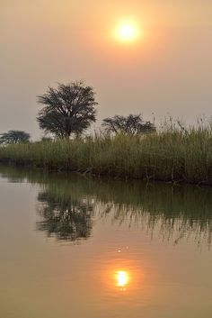 Sunset on Okavango River, on de border between Namibia n Angola The World's Greatest, Rivers, Sunsets, Fine Art America, Sunrise, Africa, Wall Art, Places, Artwork