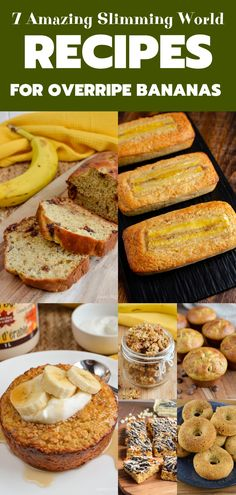7 Delicious Slimming World Recipes To Make With Overripe Bananas Fed up with not knowing what to make with the overripe bananas sitting in your fruit bowl? Check out these 7 Delicious Slimming World Recipes To Make With Overripe Bananas. Slimming World Banana Cake, Slimming World Puddings, Slimming World Desserts, Slimming World Breakfast, Slimming World Recipes Syn Free, Slimming World Biscuits, Other Recipes, Sweet Recipes, Overripe Bananas