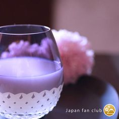 Edo Kiriko traditional crafts purple