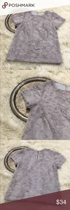 "Anthro Leifsdottir Fur-Finished Tee Anthropologie Leifsdottir 'fur-finished tee', women's size XS.   Bust 33"" length 22"" Anthropologie Tops Blouses"