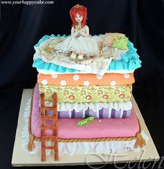 Princess and the Pea Birthday Cake.  But with different princess on top