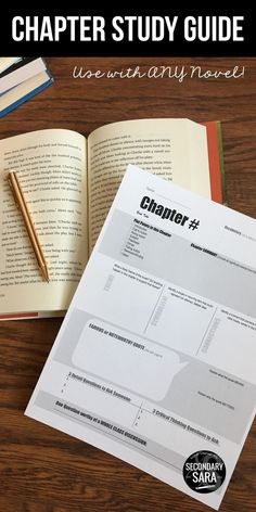 Teach Your Child To Read - Chapter study guides - an alternative to chapter quizzes that works on note-taking skills AND involves a student-led discussion panel! Works for any novel in middle school or high school English. - Teach Your Child To Read Middle School Reading, Middle School English, Note Taking High School, Middle School Novels, Education English, Teaching English, Anchor Charts, 6th Grade Ela, English Classroom