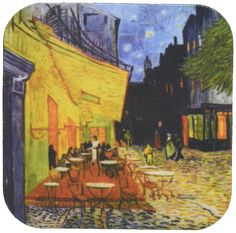 3dRose cst_155653_2 Cafe Terrace at Night by Vincent Van Gogh 1888 Restaurant French Street Painting Coffeehouse Soft Coasters, Set of 8 => New and awesome product awaits you, Read it now  : Christmas Decorations