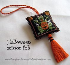 Happiness is Cross Stitching : Scissor fob exchange arrived at destination and more stitching news.