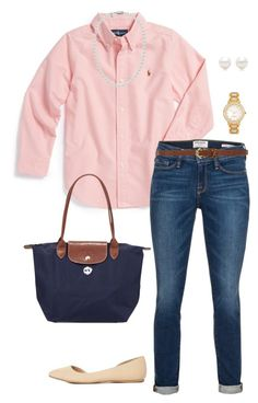 """""""Fall!!!"""" by sc-prep-girl on Polyvore featuring Ralph Lauren, Frame Denim, Dorothy Perkins, Kate Spade, Tiffany & Co., Charlotte Russe and Longchamp"""