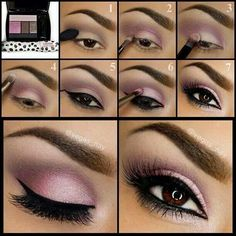 Best purple/pink eyeshadow I've seen, not too much not too little.