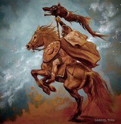 dacian warrior with dracones flag Warrior Tattoos, Wolf Tattoos, Tatoos, Ancient Rome, Ancient Art, Indian Chief Tattoo, History Of Romania, Linocut Prints, Art Prints