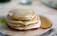 Vegan Banana Pancakes Recipe. Top with walnuts or pecans and bananas!