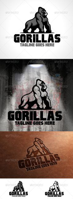 Gorillas Logo Template - Animals Logo Templates