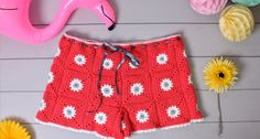 How to crochet daisy shorts - with PATTERN!