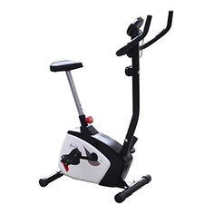 Soozier Indoor Magnetic Resistance Exercise Bike w/LCD Display - Black/Gray/White * Want additional info? Click on the image.