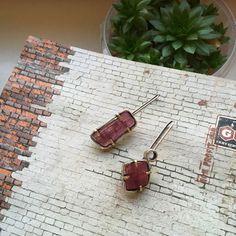Серьги с турмалином – купить в интернет-магазине на Ярмарке Мастеров с доставкой Natural Stones