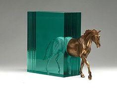 New glass and bronze sculpture 'stead' by Ben Young Deco Design, Art Design, Glass Design, Resin Sculpture, Horse Sculpture, Sculpture Ideas, Bronze Sculpture, Epoxy Resin Art, Colossal Art
