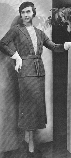 Vintage 1930s Dress Daisy Lace and Jacket Pattern by cemetarian