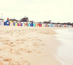Ive been in love the these bathing boxes located in Brighton, Victoria, for years. There are about 80 of these tiny, colourful boxes dotted all Seaside Beach, Beach Fun, Australia Living, Australia Travel, Beach Hut Decor, The Places Youll Go, Places To Go, Road Trip, Weekends Away