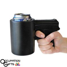 BigMouth Foam The Shooter Drink Kooler, Black - Funny gun shaped drink cooler will keep drinks can or bottle icy cold, but will keep your hands warm and dry Foam keeps the beer cold Perfect for any party Gifts For Cops, Police Gifts, Gag Gifts, Army Gifts, Funny Fathers Day Gifts, Funny Gifts, Shooter Drink, Can Holders, Soda Bottles