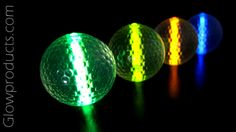 Glowing Night Golf Balls http://glowproducts.com/noveltyglowproducts/nightgolfball/