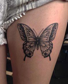Butterfly Tattoos - Tattoo Insider - Butterfly Tattoo by Nick Whybrow - Dope Tattoos, Tattoos Skull, Body Art Tattoos, Girl Tattoos, Small Tattoos, Sleeve Tattoos, Tattoos For Women, Tatoos, Piercing Tattoo