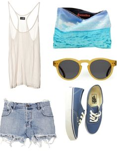 | Summer Outfit |   This would be cute with a bandeau underneath too (: