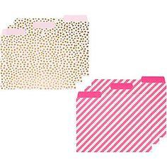 ban.do Pink & Gold File Folders