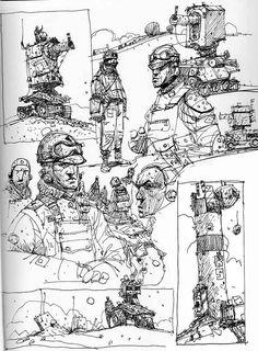 Sketchbook: Wild Metal Country page.