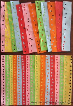 Hole Punch Art. Fine motor skills, creativity and more.