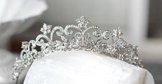 Victorian Scroll Crystal Bridal Tiara, EDITH Swarovski Crystal Bridal Crown, Diadem, Crystal Wedding Tiara, Diamante Tiara, Bridal Tiara