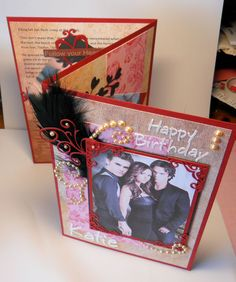 vampire diaries trifold collage card