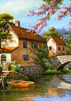 Sung Kim ~c.c.c~Riverside Cottage~ Country Village