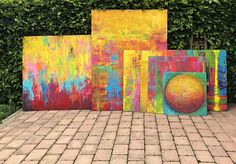 New collection - HAPPY COLORS, large abstract paintings by Eva Tikova Abstract Paintings, Abstract Art, Happy Colors, Collection