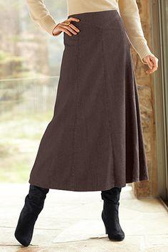 Long skirt w/ boots
