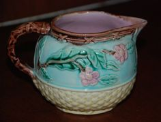 19th Century Majolica Creamer with Birds by MagnificentMajolica, Visit my shop on Etsy!