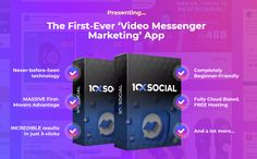10xSocial App Review + OTO - by Neil Napier - Brand New System Messenger Marketing Social App That Consist Combined The Power Of Messenger And Video That Help You To Get Engagement Get 10x More Leads, Sales, And Results Conversion Rate Using Personalized Automated Video Messages In Just Three Easy Steps Facebook Marketing, Internet Marketing, Facebook Messenger, Cloud Based, Interactive Posts, Marketing Tools, Marketing Software, Messages, Best Facebook