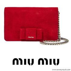MIU MIU Bow embellished suede shoulder bag