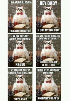 Ok I need to stop pinning these terrible chem jokes but they are just so funny