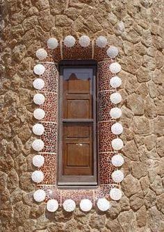 beautiful window - Gaudi details - Parc Guell, Barcelona
